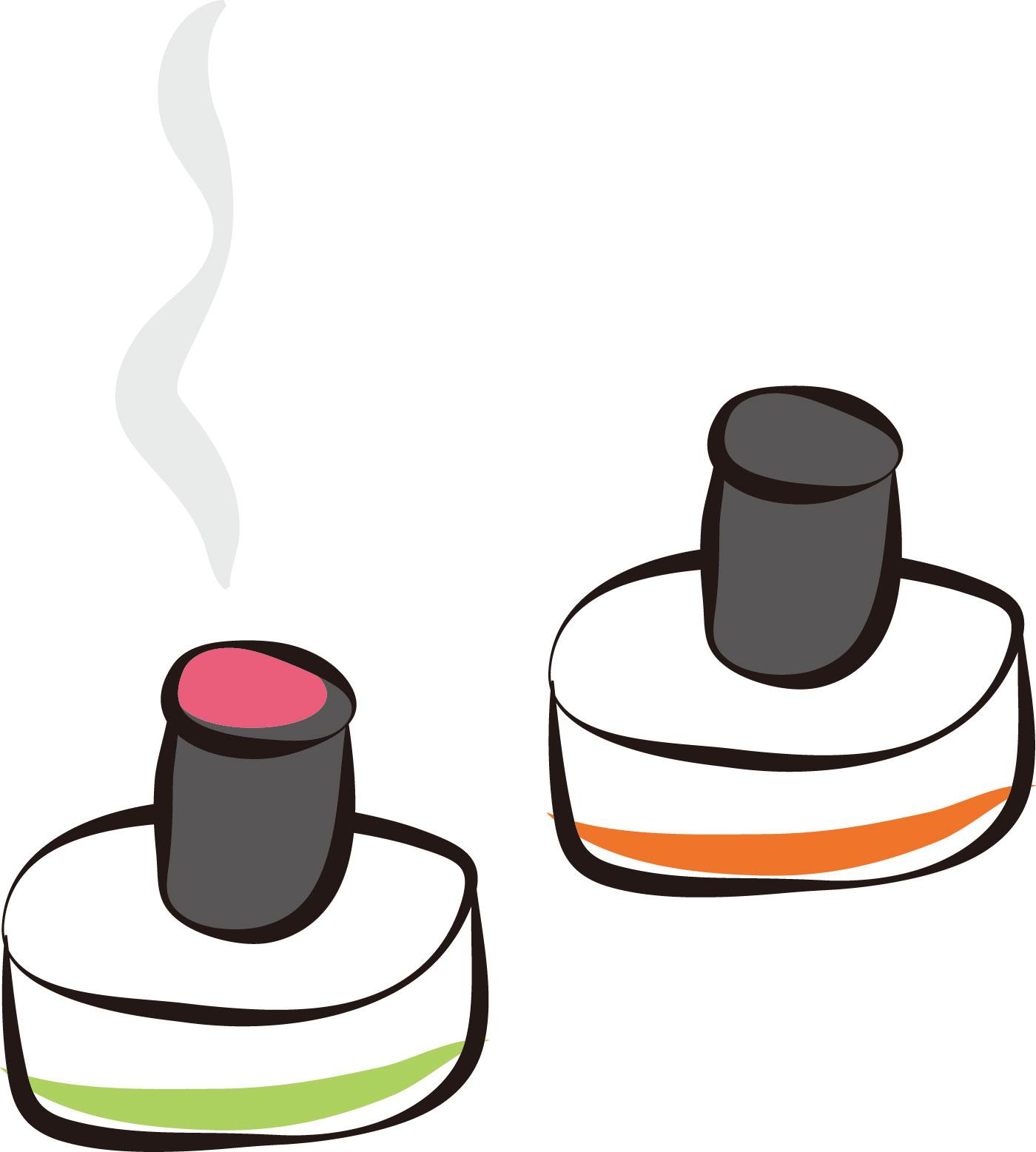 台座灸には無煙もある